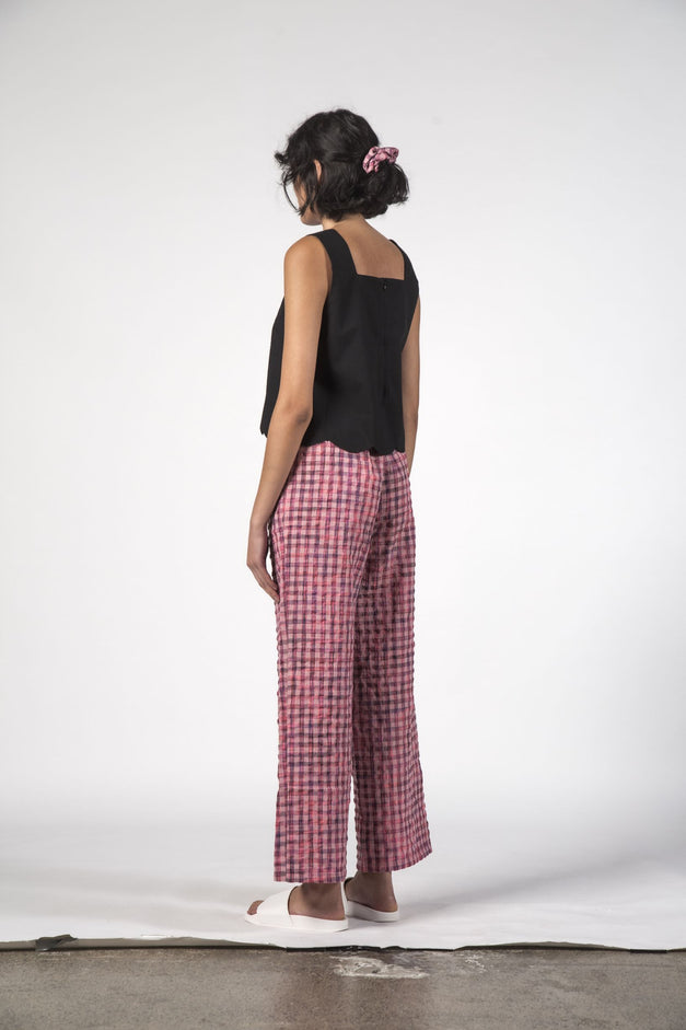 BEACH PANTS - Pink Check