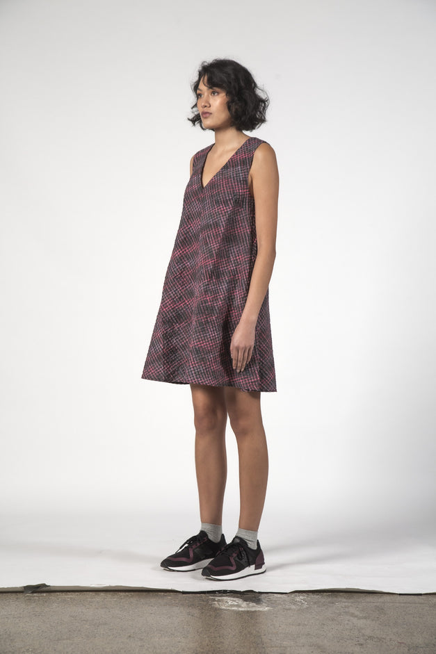 ESTELLE DRESS - Charcoal Check