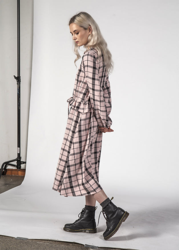 SALE - LA DI DA DRESS - Pastel Check
