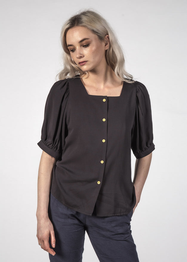SMALL TALK TOP - BLACK