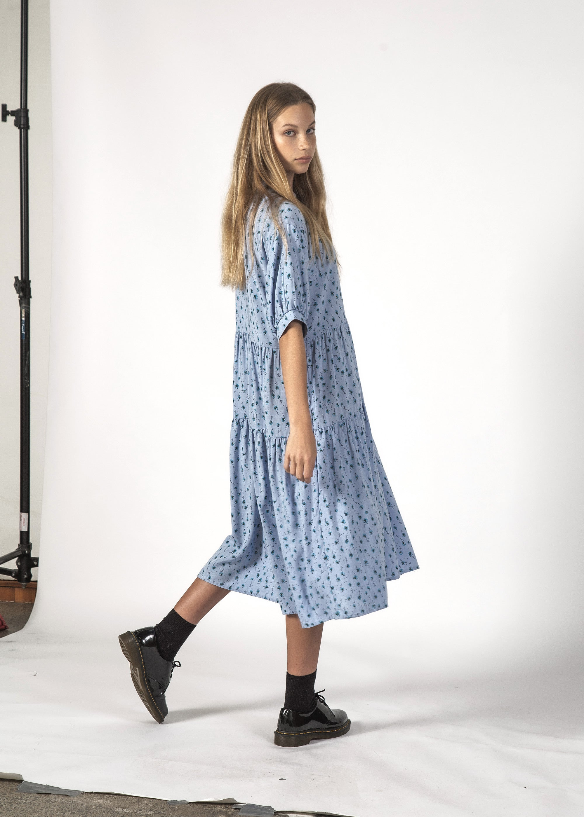 LUNA DRESS - BABY BLUE DISTY