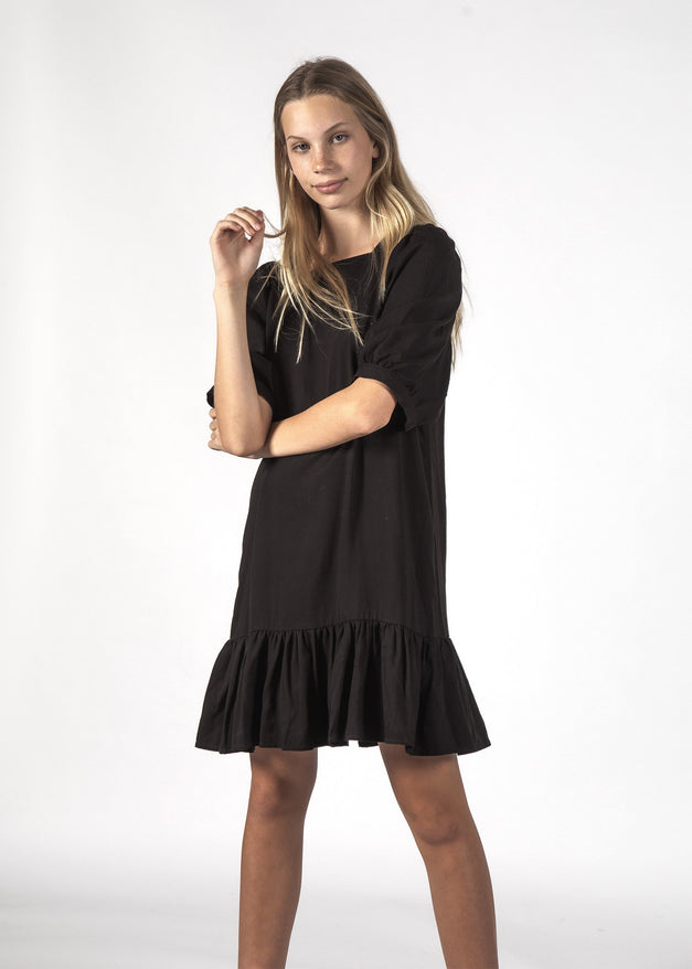 BLESSFUL DRESS - BLACK RAYON