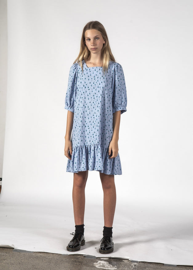 SALE - BLESSFUL DRESS - Baby Blue Ditsy