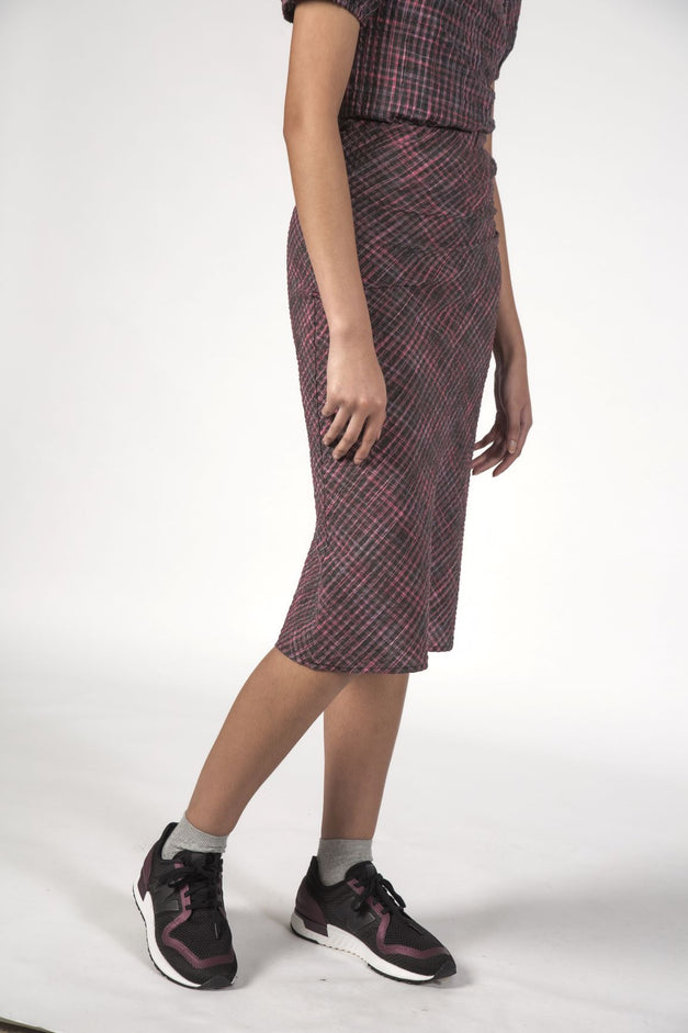 LOU LOU SKIRT - Charcoal Check