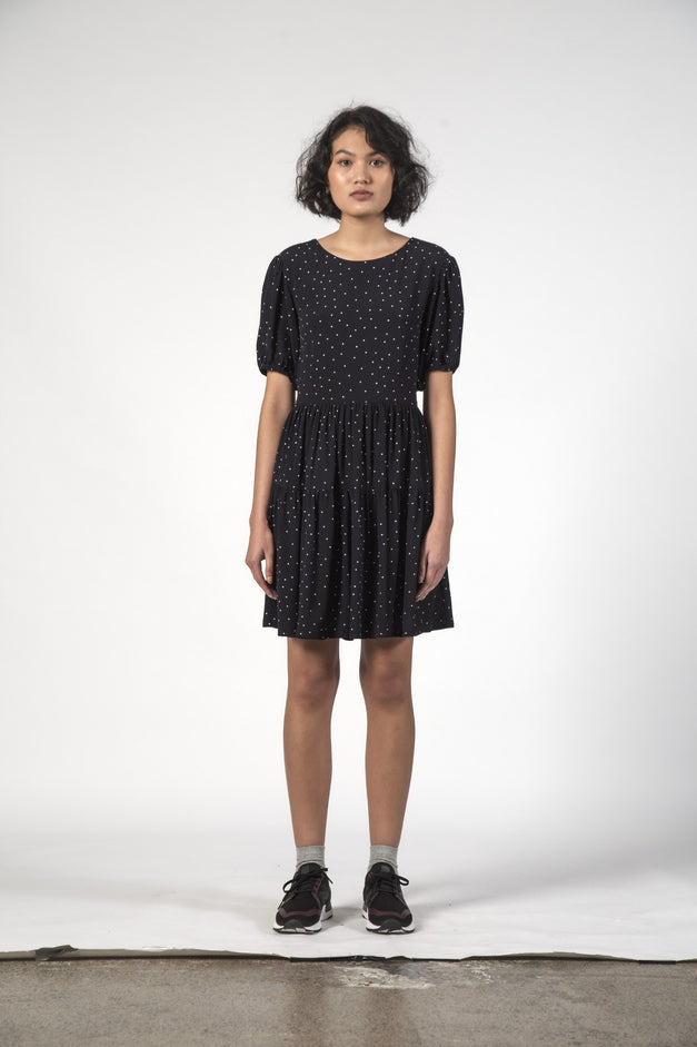POPPY DRESS - Black Dot