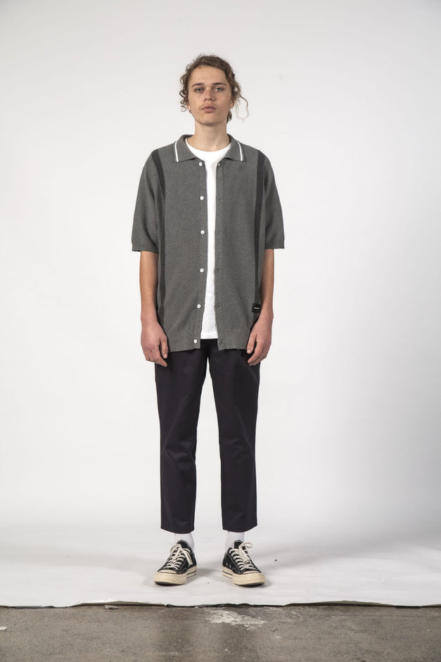 STRAY KNIT SHIRT - Grey Marle