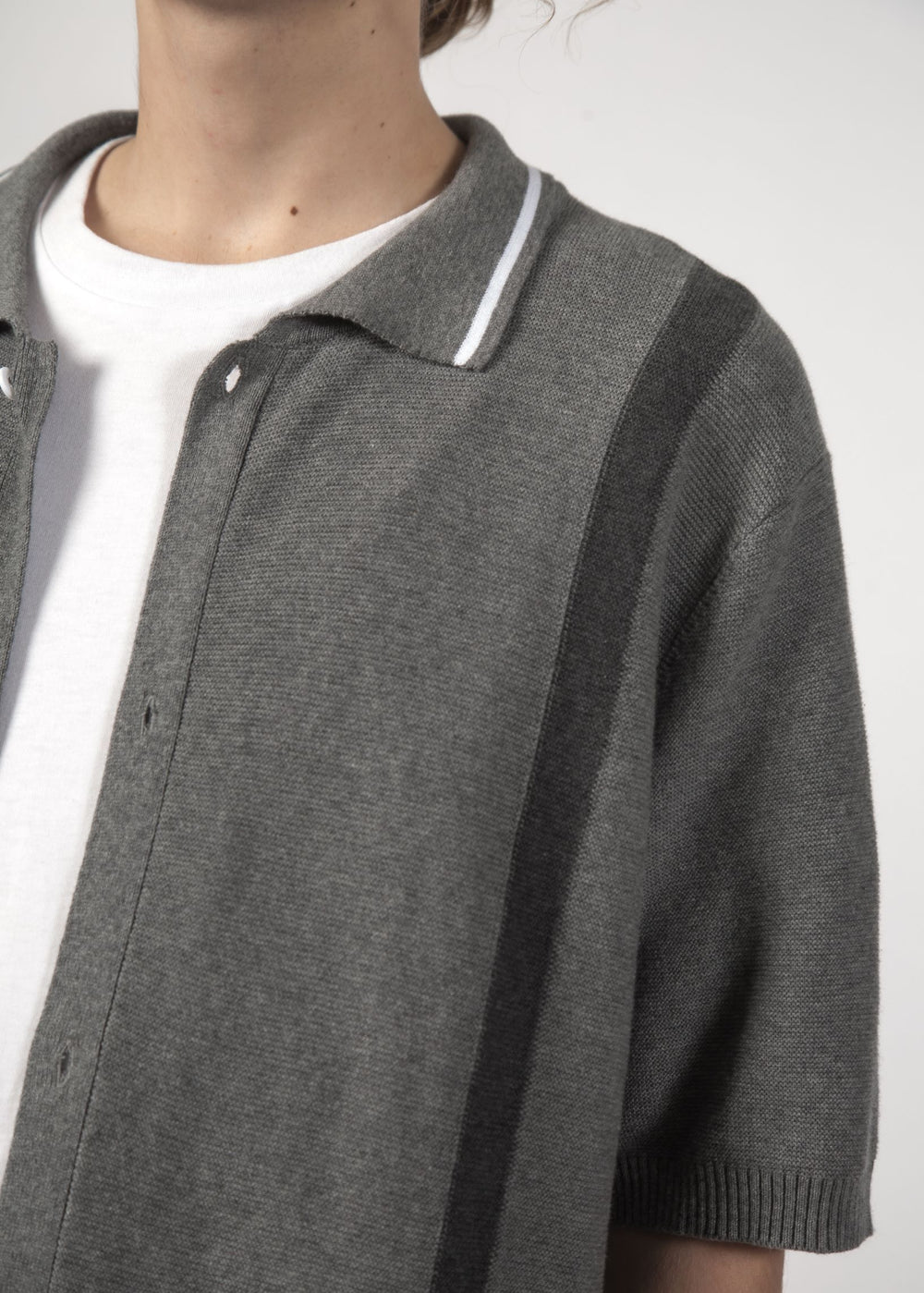 SALE - STRAY KNIT SHIRT - Grey Marle