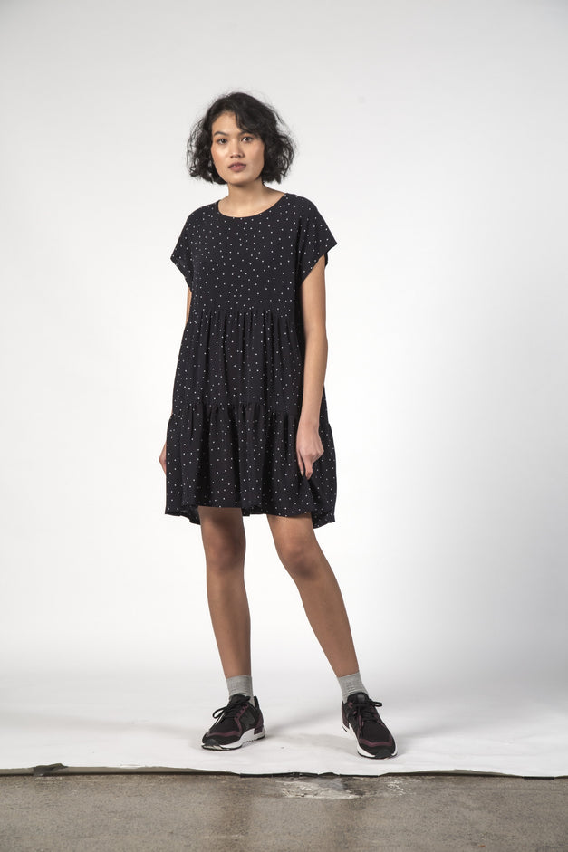 SALE - TWIRL DRESS - Black Dot