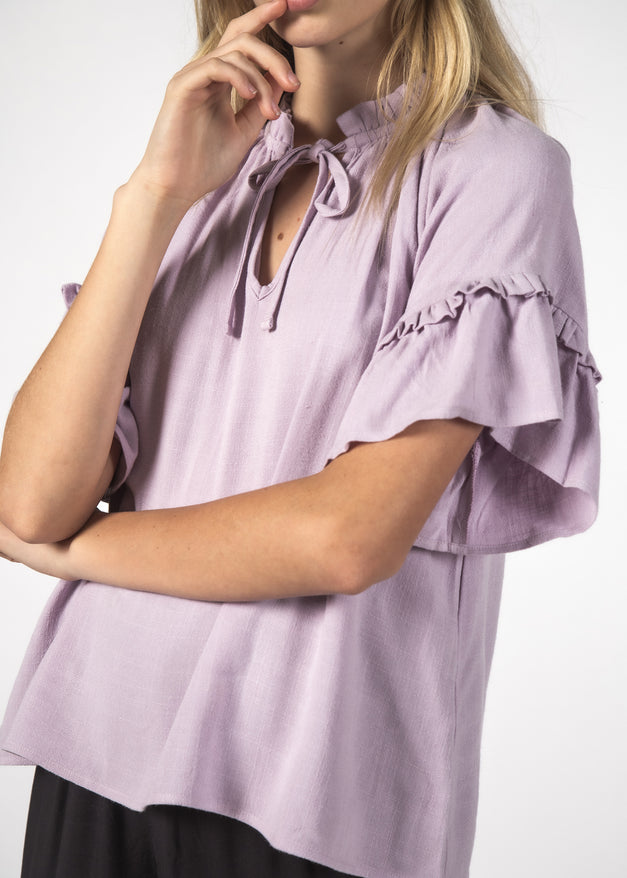 EVE TOP LILAC LINEN