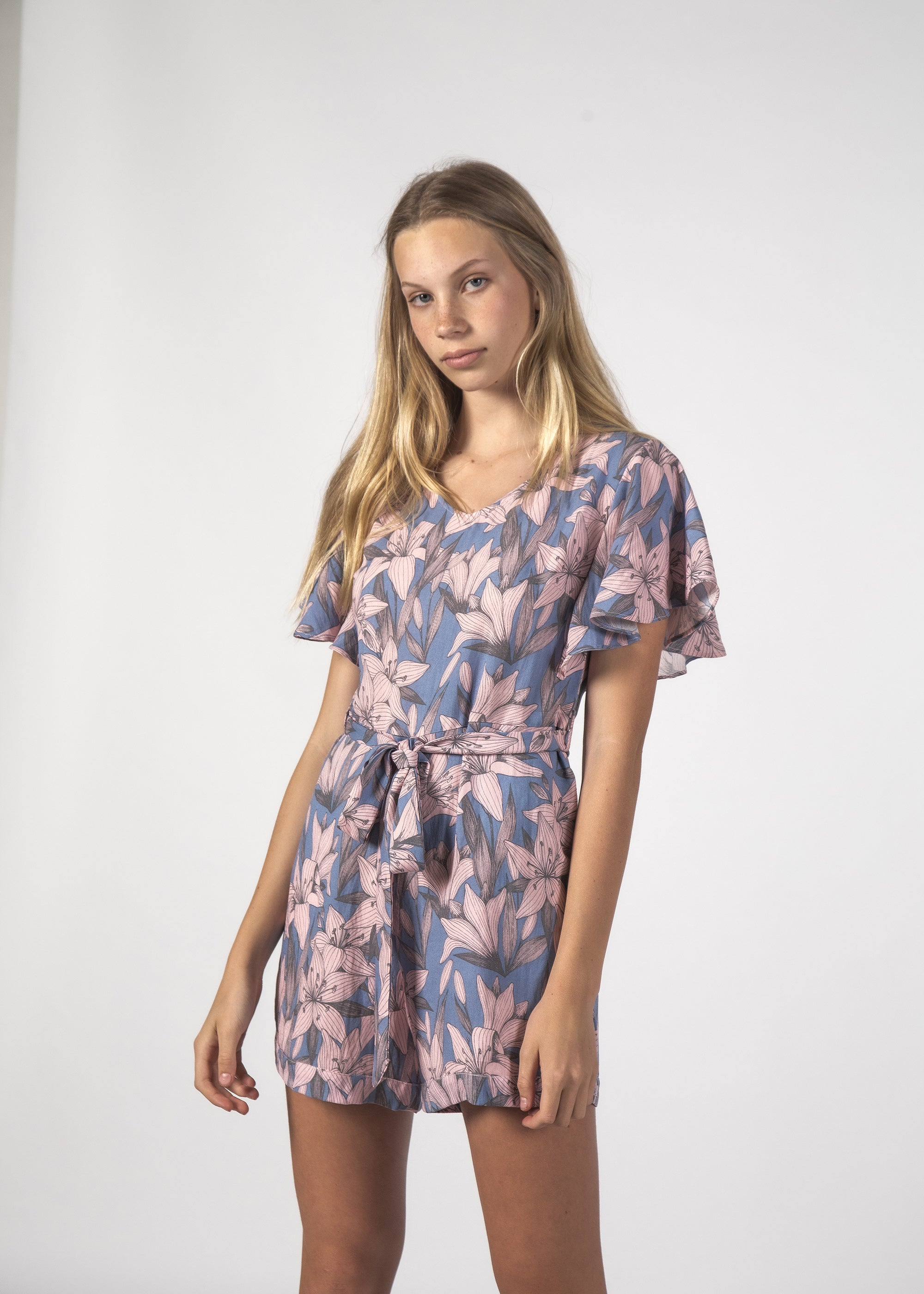 TILLY PLAYSUIT TROPIC SKY