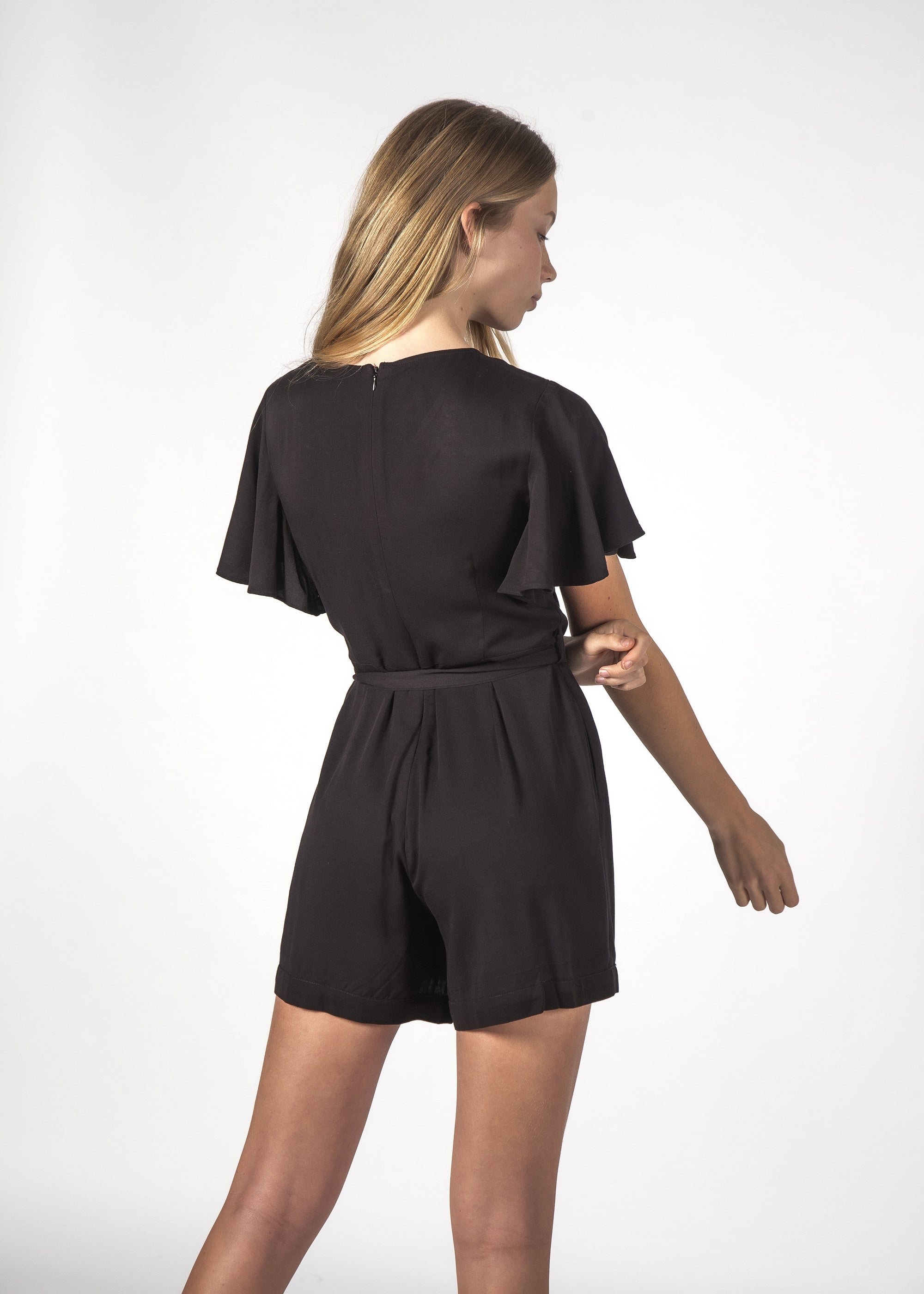 TILLY PLAYSUIT BLACK
