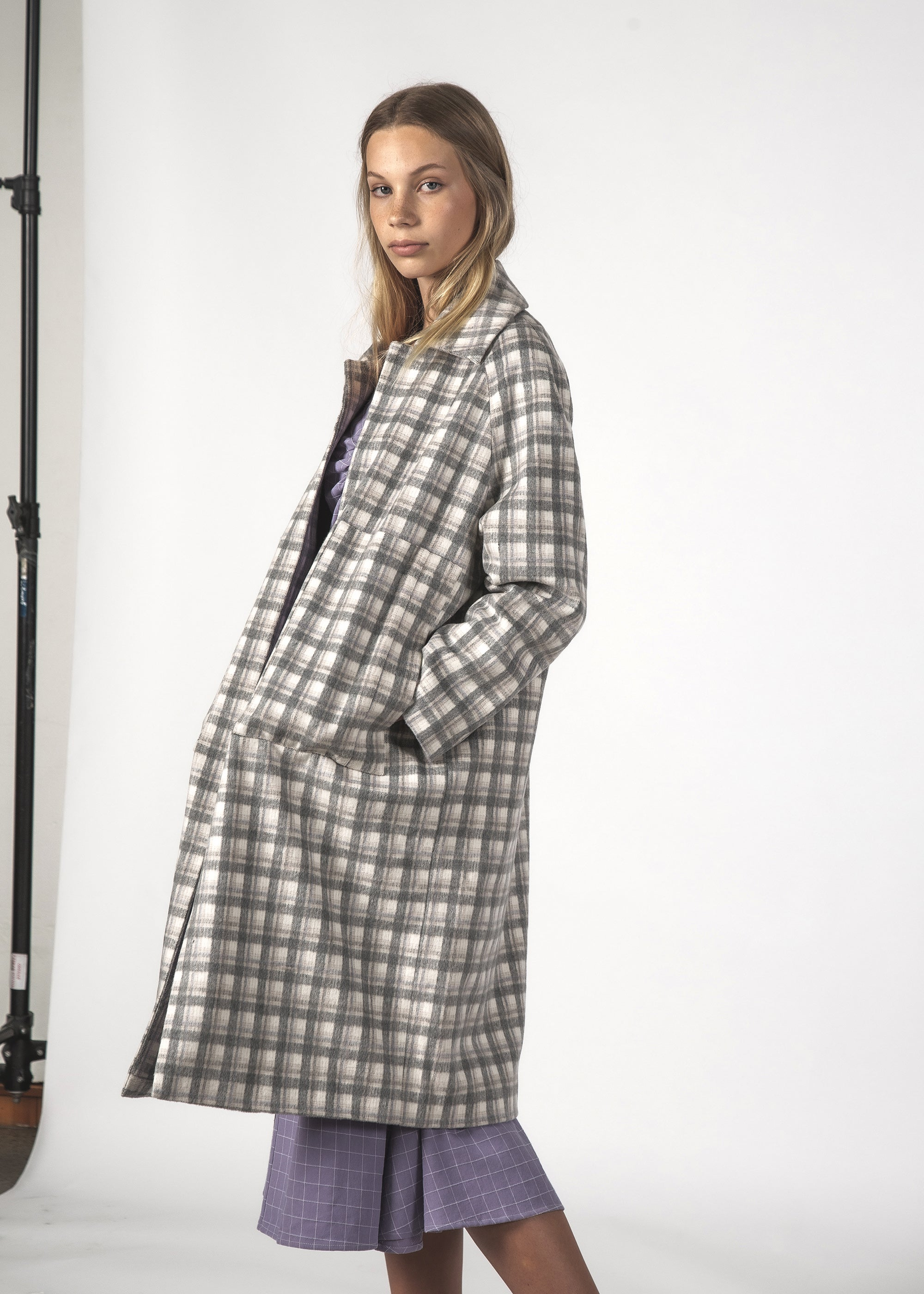 QUINN COAT - GREY CHECKS