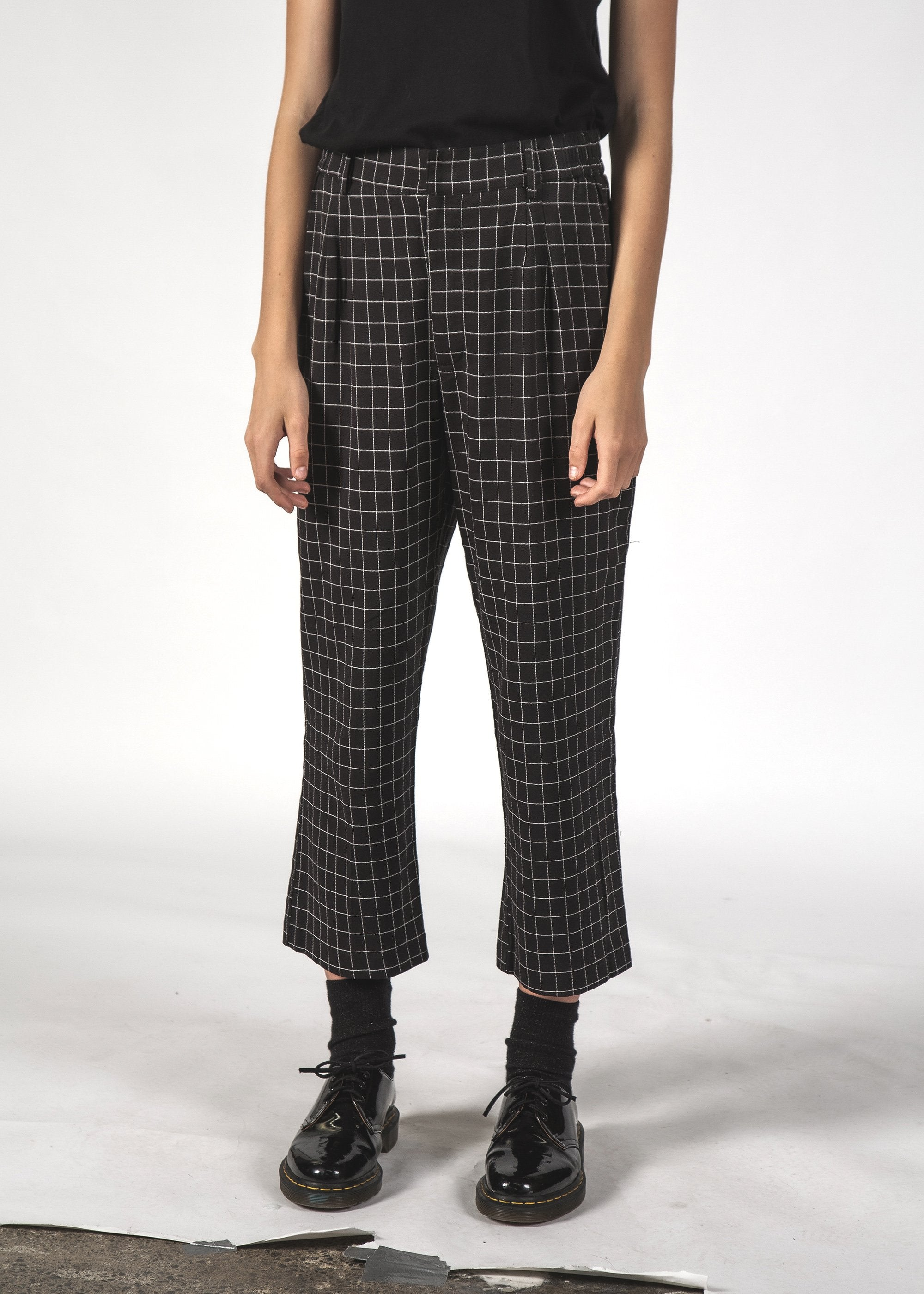 VINCENT PANT - Black Grid