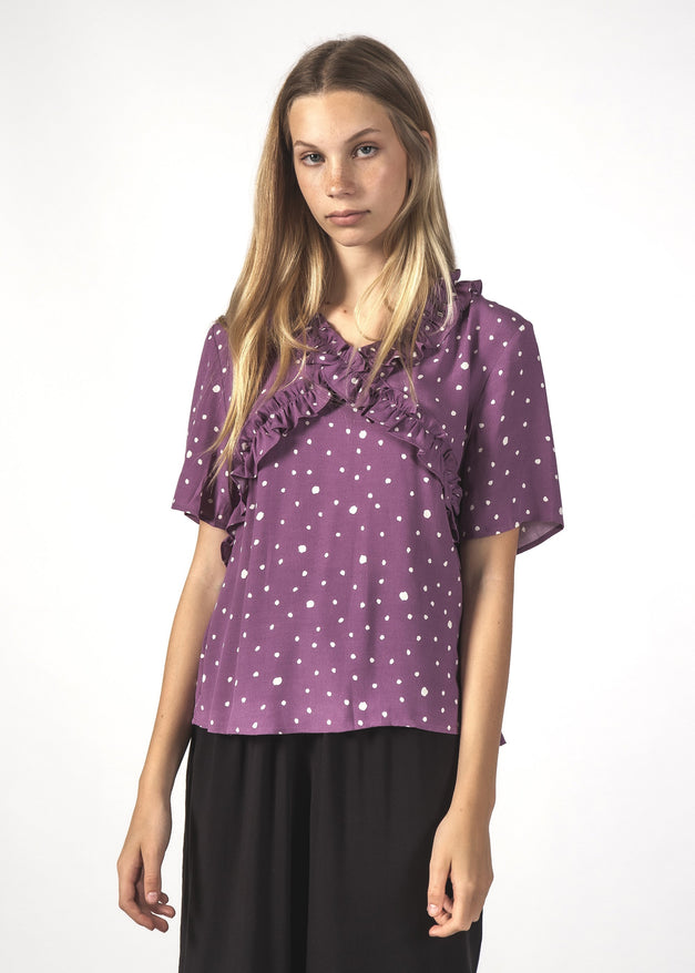 SALE - JOYOUS TOP - Lilac Blotch