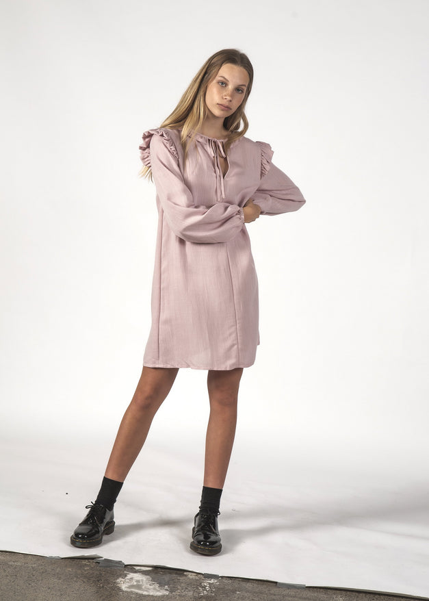 SALE - OOH LA LA DRESS - Dusty Pink Linen