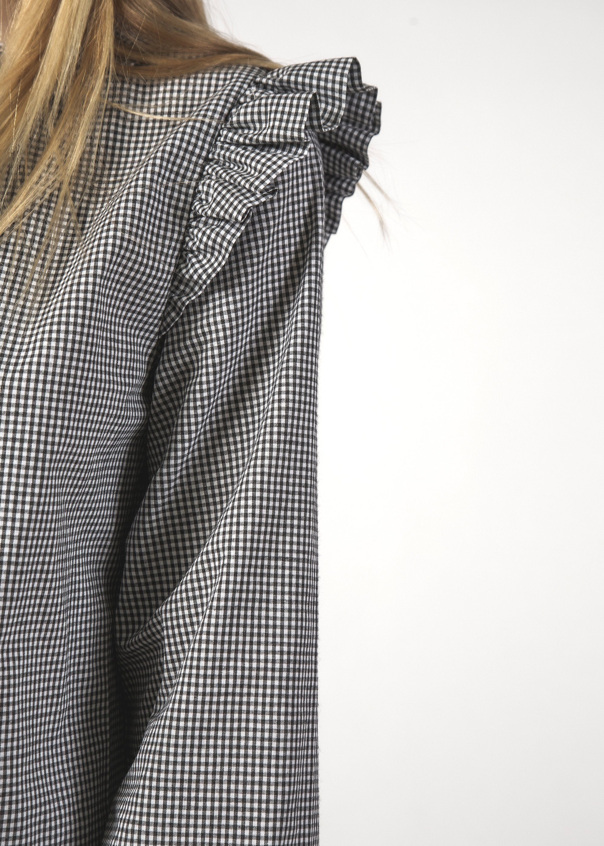 SALE - OOH LA LA DRESS - B & W Mini Check