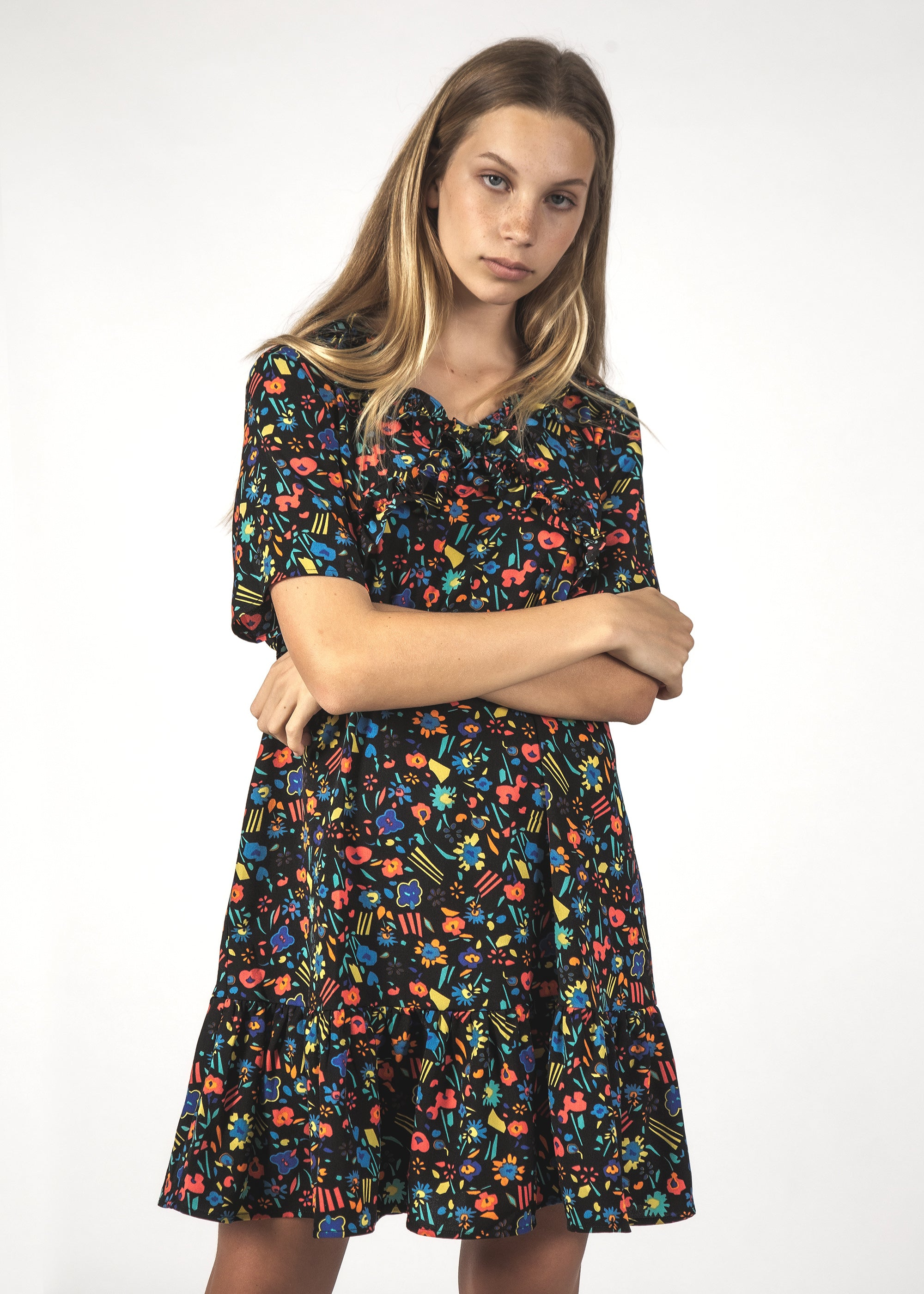 JOYFUL DRESS - BLACK SHAPES