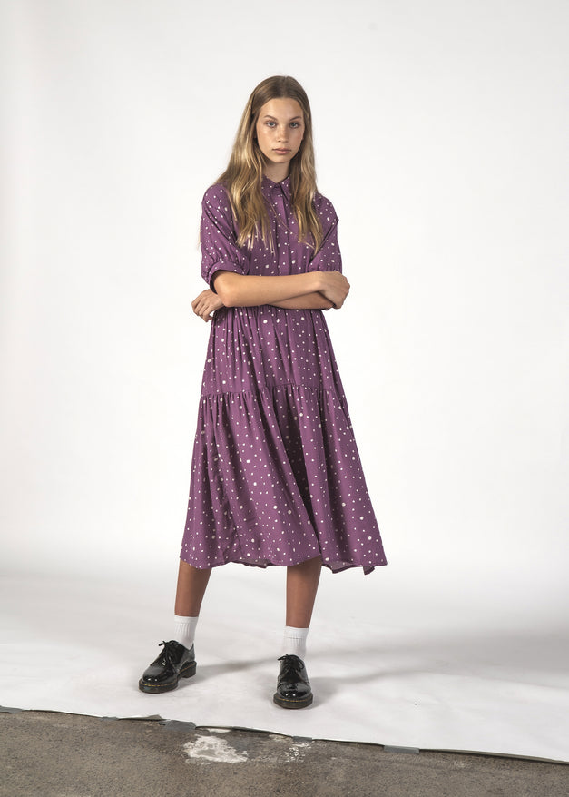 THE LUNA DRESS - LILAC BLOTCH