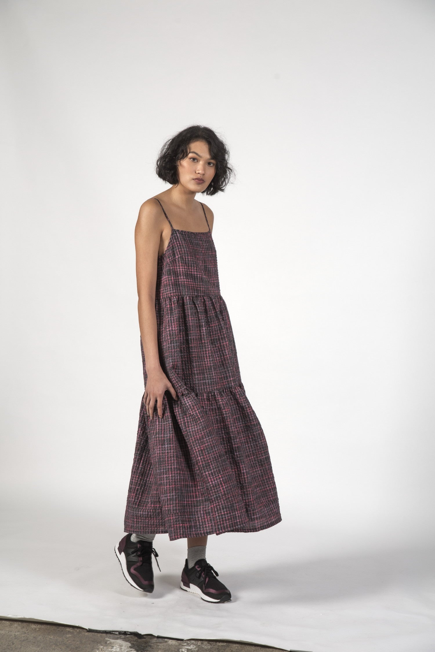 ZIGGY DRESS - Charcoal Check