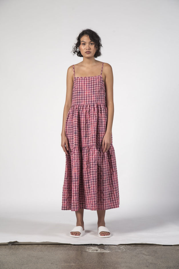 SALE - ZIGGY DRESS - Pink Check