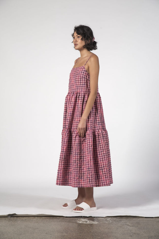 ZIGGY DRESS - Pink Check