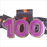purple glitter virtual running 100 miles medal
