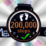 200k step challenge medal virtual race virtual running