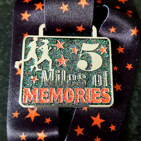 orange glitter 5 miles dementia virtual running challenge