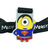 kids superhero superman minion silicone virtual race medal