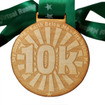 10k wooden medal eco friendly virtual race