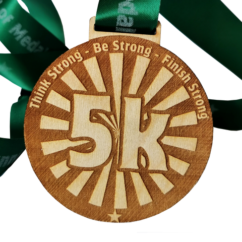 wooden medal 5k virtual running race