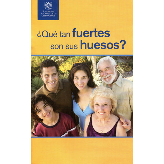 How Strong Are Your Bones Spanish Version – 50 Pack