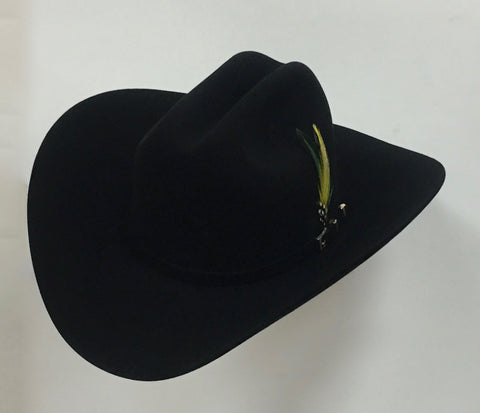 David's 100X Black fur felt cowboy hat