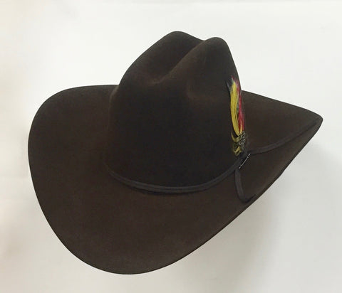 Stetson 6X Rancher chocolate fur felt cowboy hat