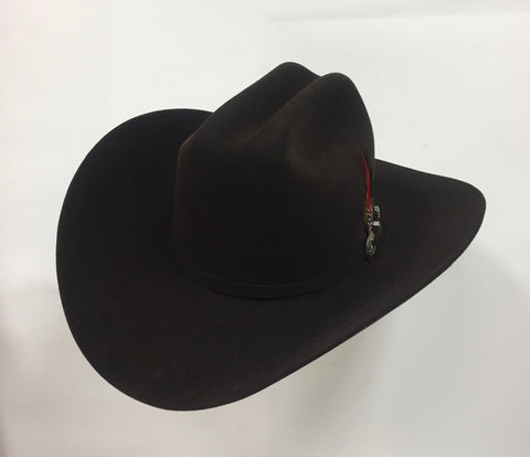 David's 5X Brown fur felt cowboy hat