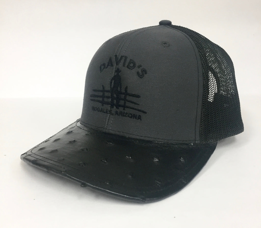 20fcc5be3ae17 Charcoal Black with black full quill ostrich visor – David s Western ...