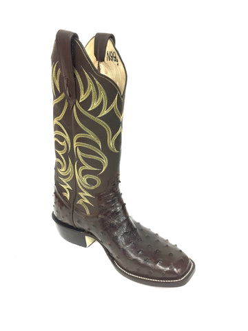 Full Quill Nicotine CC Ostrich boot