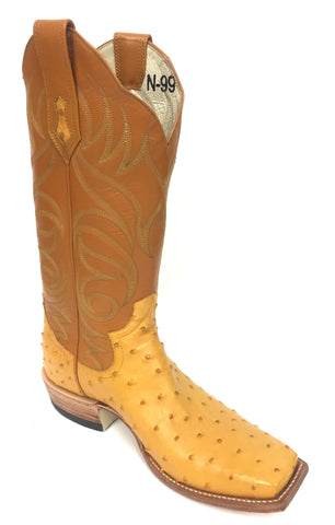 Full Quill Buttercup Ostrich Boot