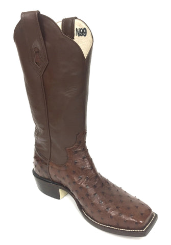 Full Quill Kango Tobac CC Ostrich Boot