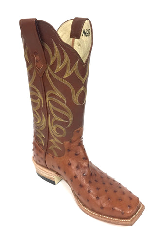 Full Quill Brandy CC Ostrich Boot