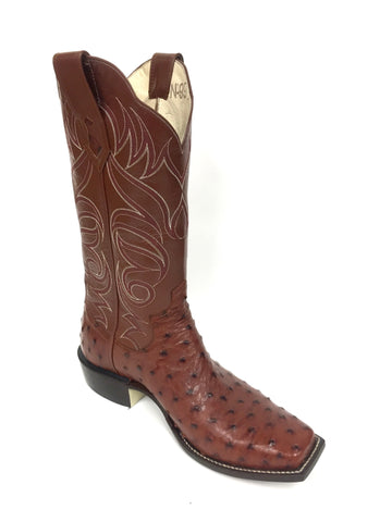 Full quill Almond CC Ostrich Boot