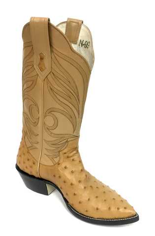 Full Quill Natural Ostrich Boots