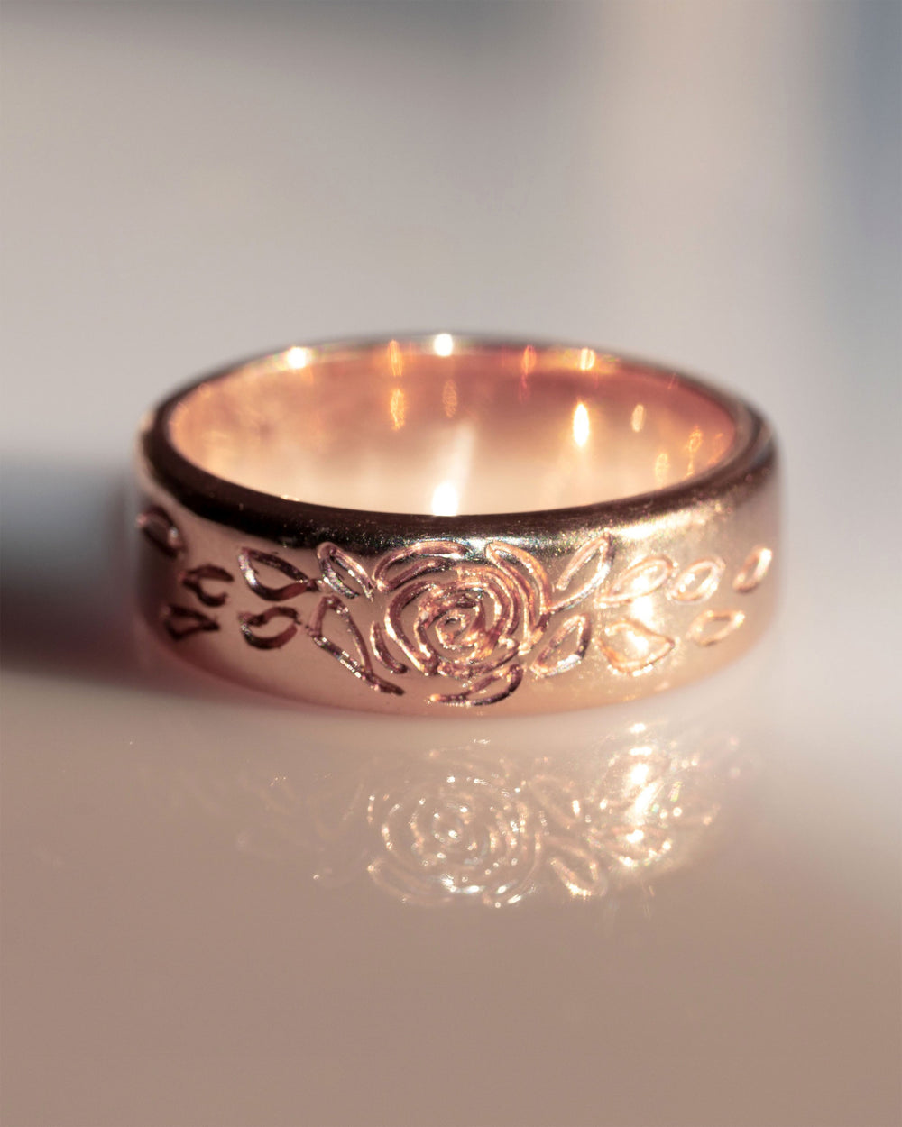 Rose Burst Band Ring in 14K or 18K Fine Gold