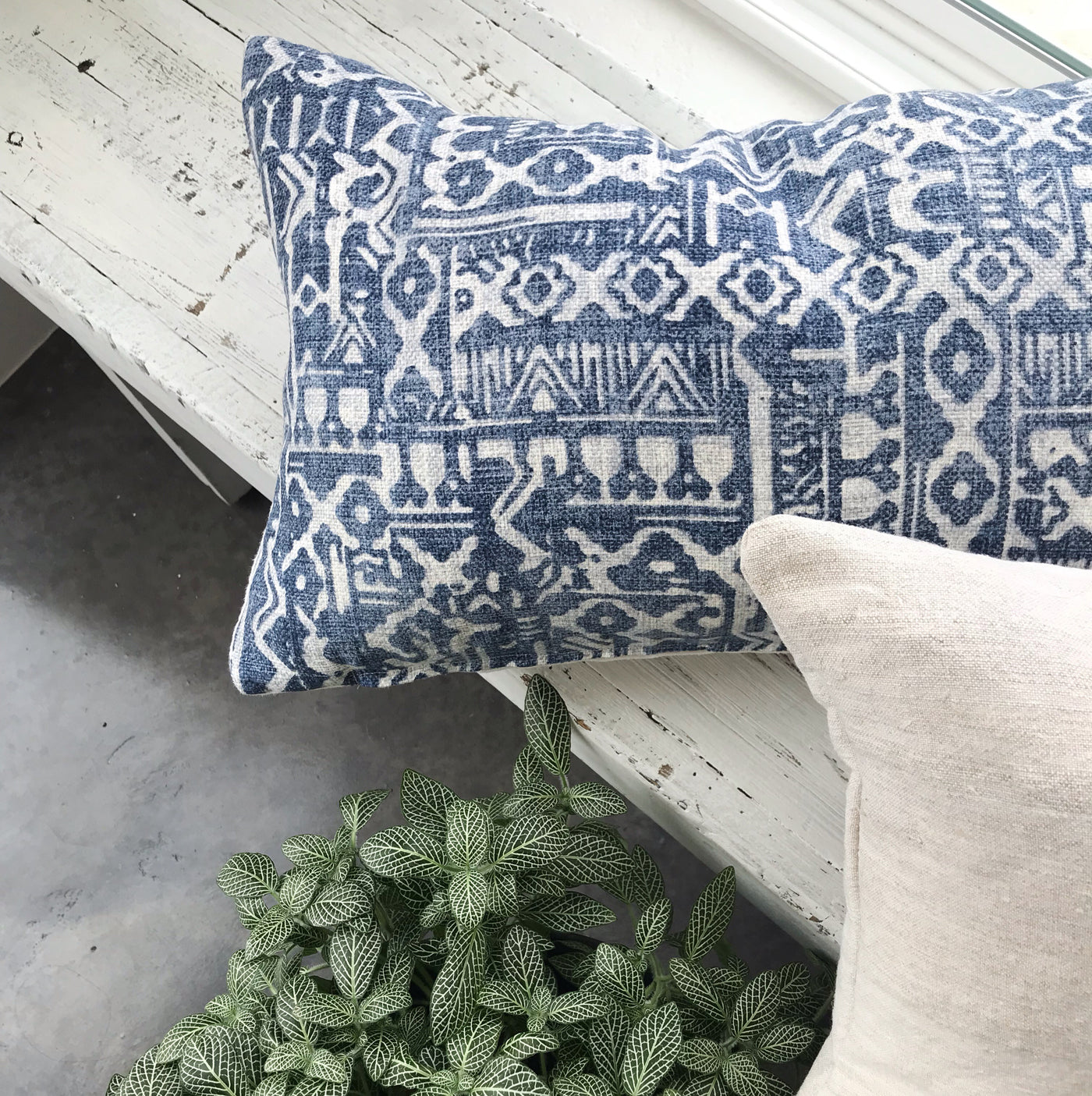Stylish blue ikat pillows you'll love - TABER - Studio Pillows
