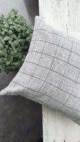 European linen plaid pillow cover - THEO - Studio Pillows