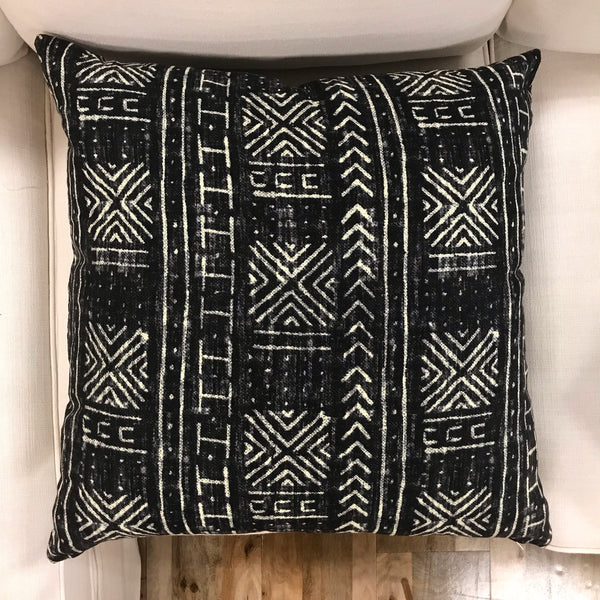 SALE! - Stylish black mudcloth pillows - CAMILA - Studio Pillows