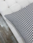 Classic black ticking stripe pillow - ELLA - Studio Pillows