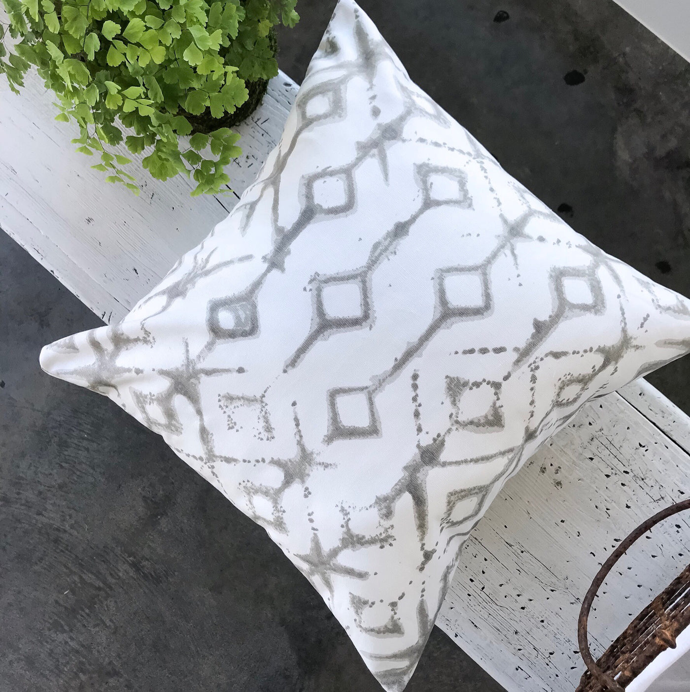 Favorite gray and white boho pillows - ALEX - Studio Pillows