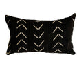 Authentic black mud cloth pillows - Studio Pillows