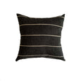 Textured Black Stripe Pillow - Birch - Studio Pillows
